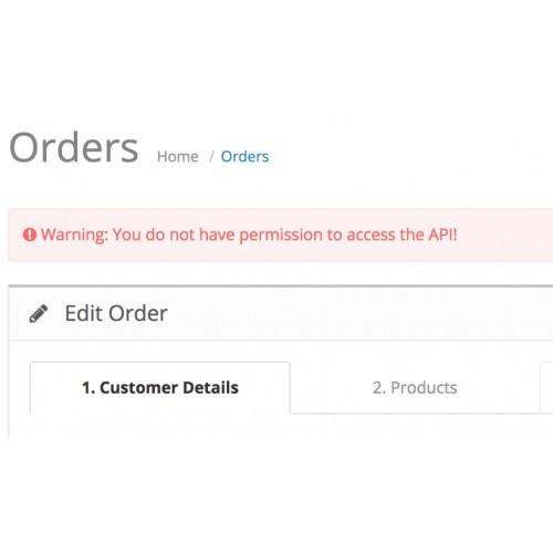 Полное отключение API в админке при редактировании заказа Opencart 2.1 [OCMOD]