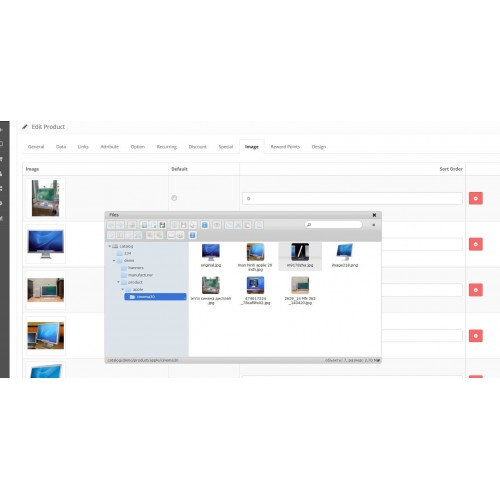 Менеджер изображений - Power Image manager - Opencart 2