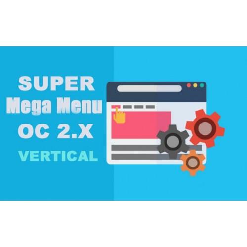 Модуль Super Mega Menu - вертикальное меню Opencart 2.x [OCMOD]