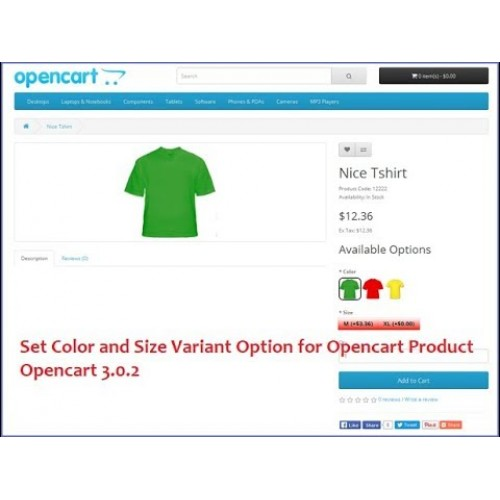 Смена фото при выборе опции - Opencart 3.x [OCMOD]