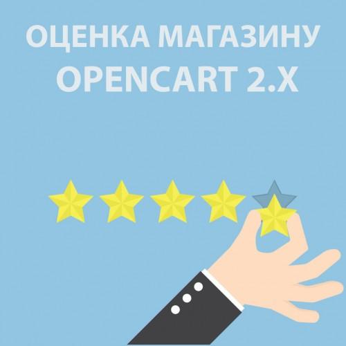 Оценка и отзыв сайту / отзывы о магазине / оценка магазину  v1.12 для Opencart 2x [OCMOD]