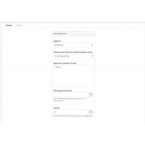 Модуль Массовое изменение цен, акций, скидок для OpenCart 3.x [OCMOD]