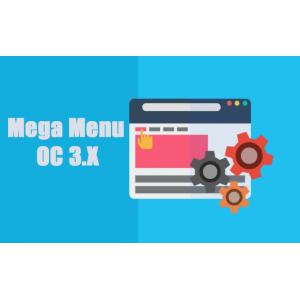 Горизонтальное мега-меню / Super Mega Menu -  Opencart 3.0 [OCMOD]
