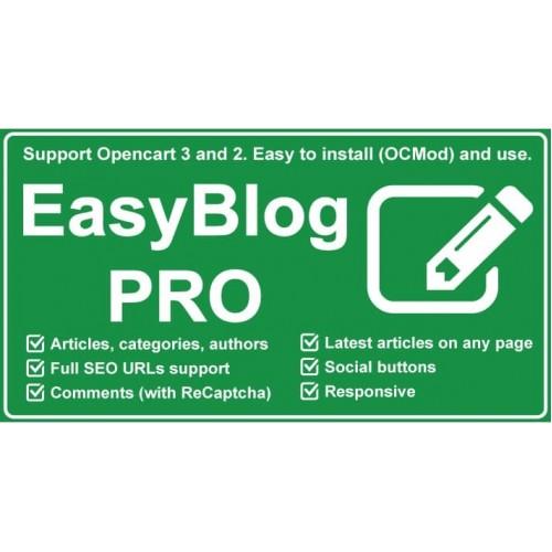 Модуль блога Easy Blog Pro - Opencart 2x [OCMOD]